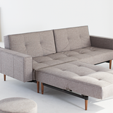 Convertible Sofa Bed - Grey Tweed