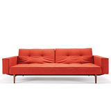 Convertible Sofa Bed - Burnt Orange