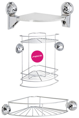 Suction Cup Corner Shelving Units