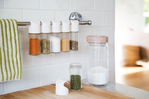 add spice jar kitchen mount storage