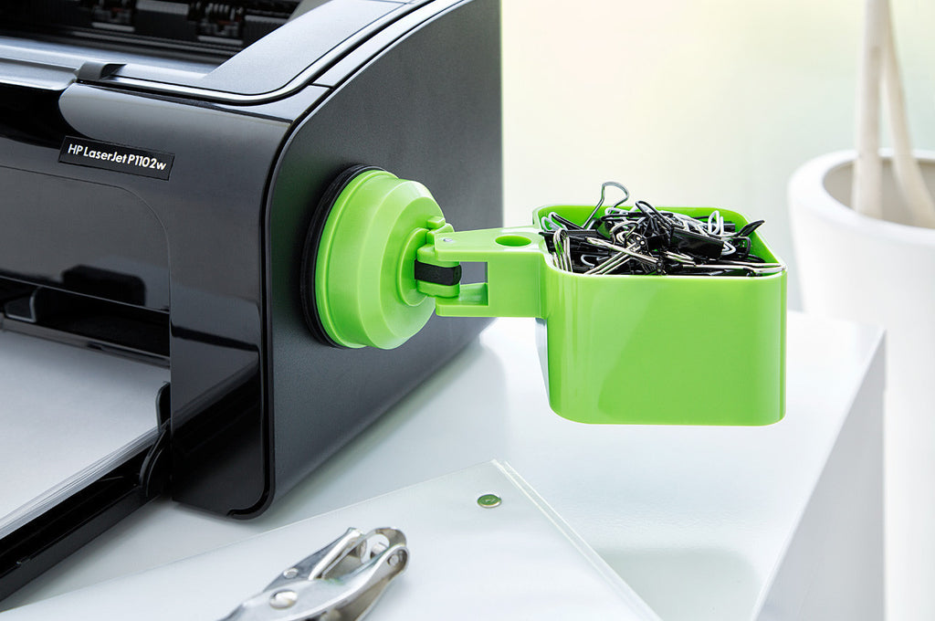 catchall holder green suction office supplies printer