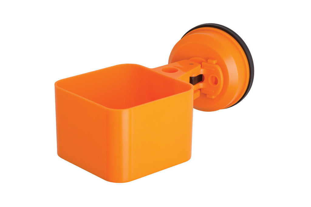 catchall holder orange suction office supplies