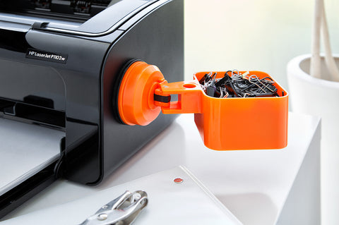 catchall holder orange suction printer paper clips