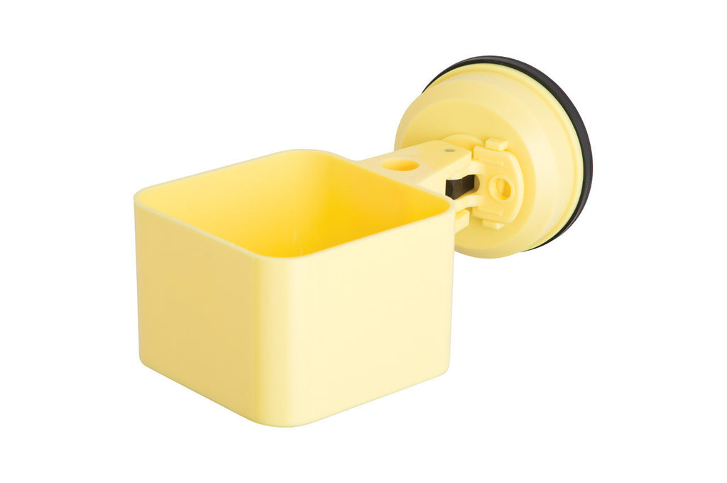 catchall holder pastel yellow suction office supplies keys