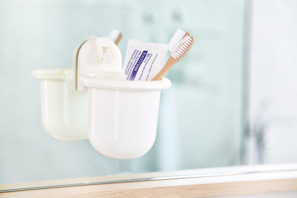 catchall holder removable cup suction bath toothpaste toothbrush