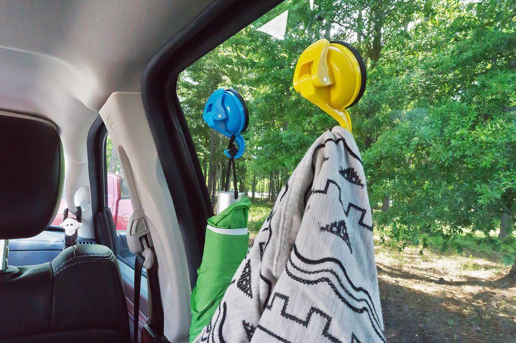 color pop large suction hook blue yellow 8 hang car window blanket