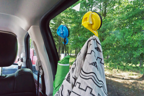color pop medium suction hook blue yellow 4 hang car window blanket