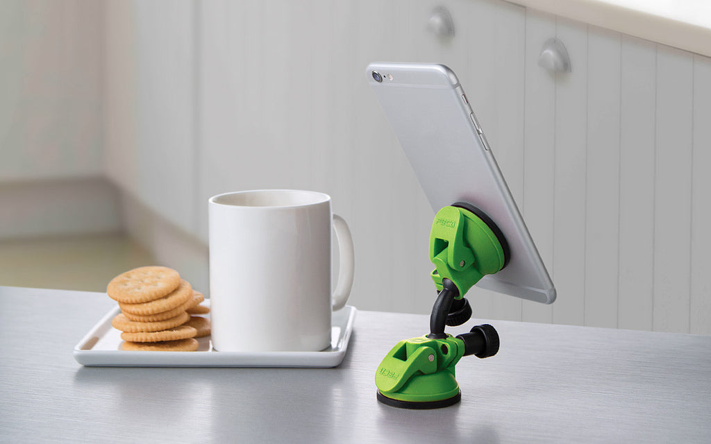 compact swivel mobile tablet stand green suction swivel iphone desk