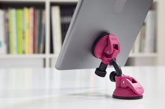 compact swivel mobile tablet stand rose bloom suction cup ipad