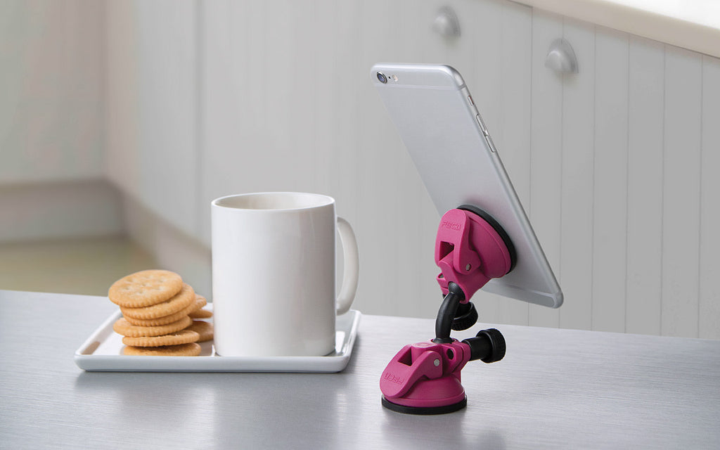 compact swivel mobile tablet stand rose bloom suction iphone desk