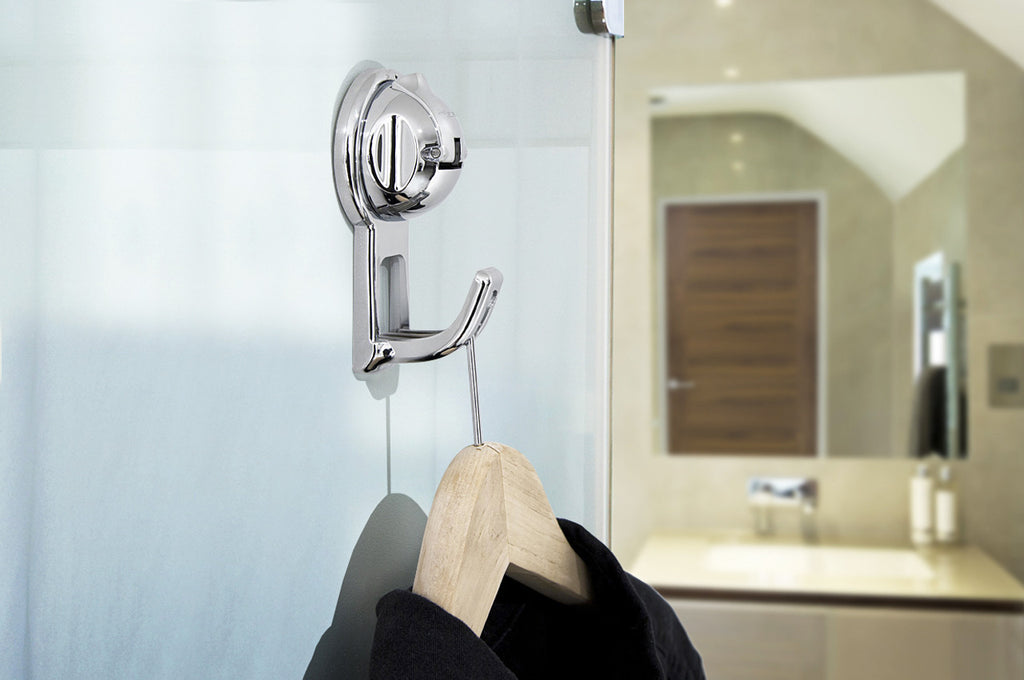 flat suction bag hook chrome suction hanger robe glass