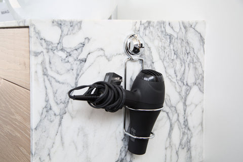 hair dryer holder suction counter wall mount