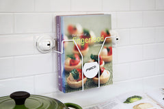 magazine holder rack suction cookbooks kitchen