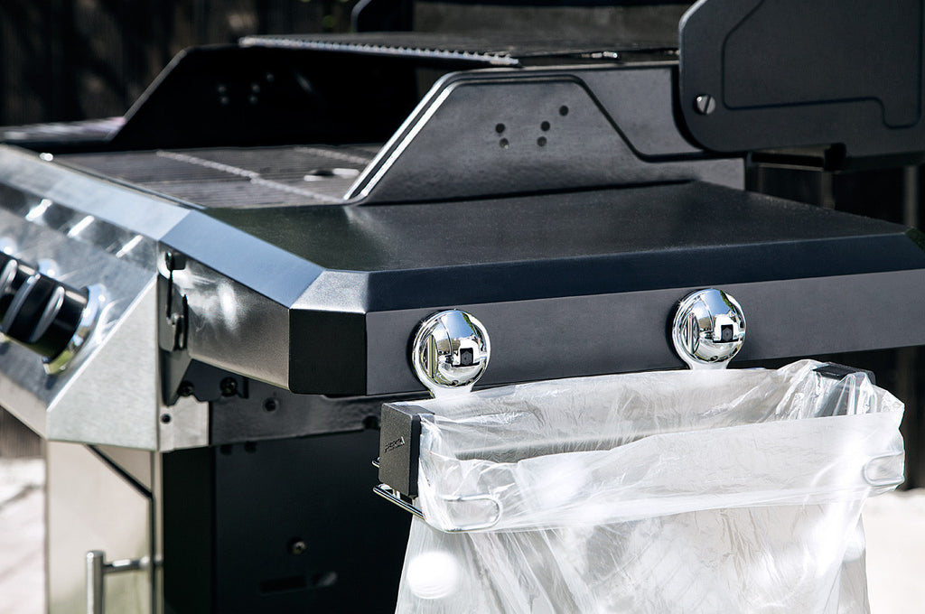 small trash bag holder suction barbeque grill stand