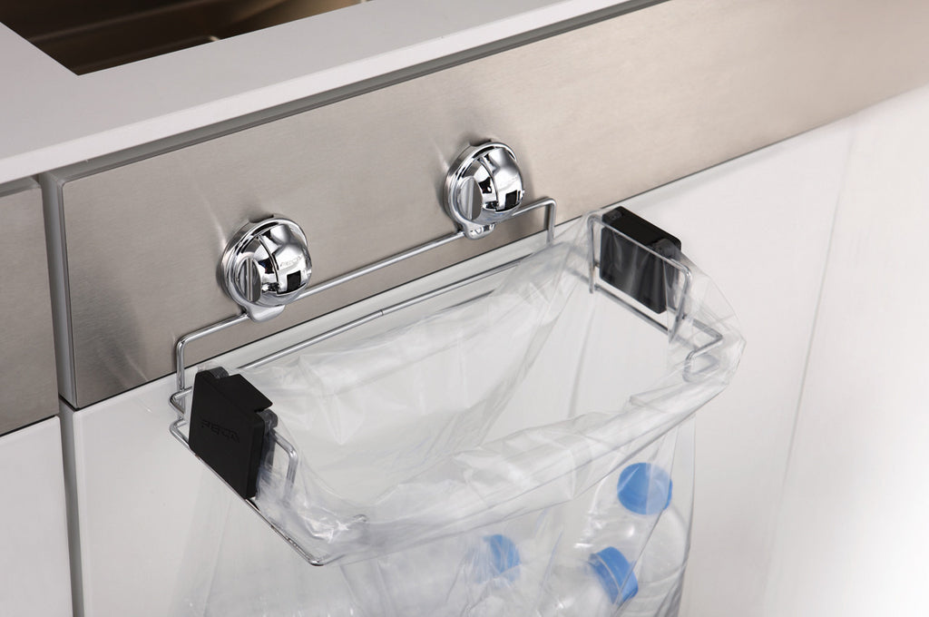 small trash bag holder suction recycle plastic bottle