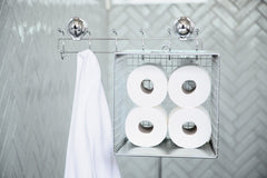 stainless steel coat rack suction bathrobe tissue paper