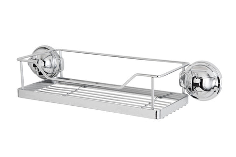 stainless steel rack chrome suction wire shelf