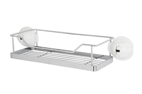 stainless steel rack white suction wire storage shelf
