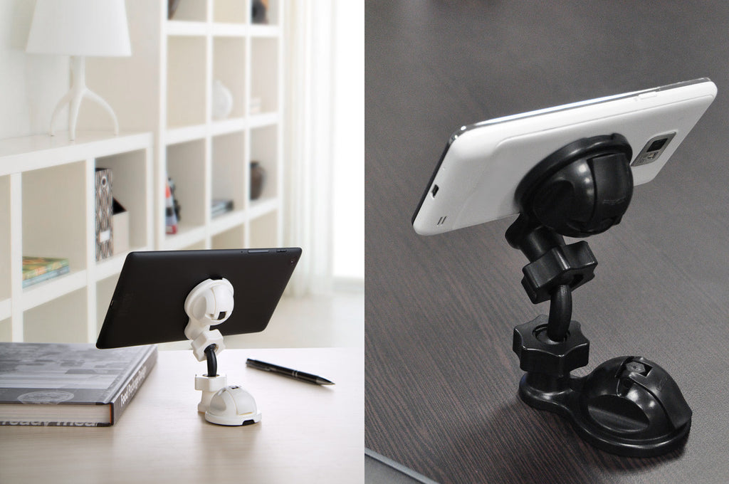 swivel mobile tablet stand black suction ipad smartphone viewing