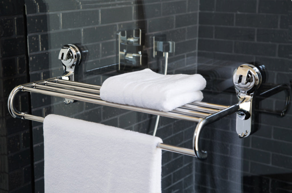 towel rack suction shower glass hanging shelves