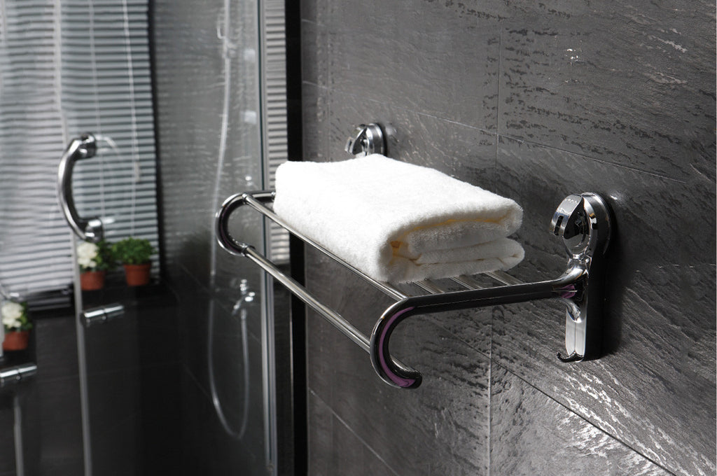 towel rack suction shower shelf hang