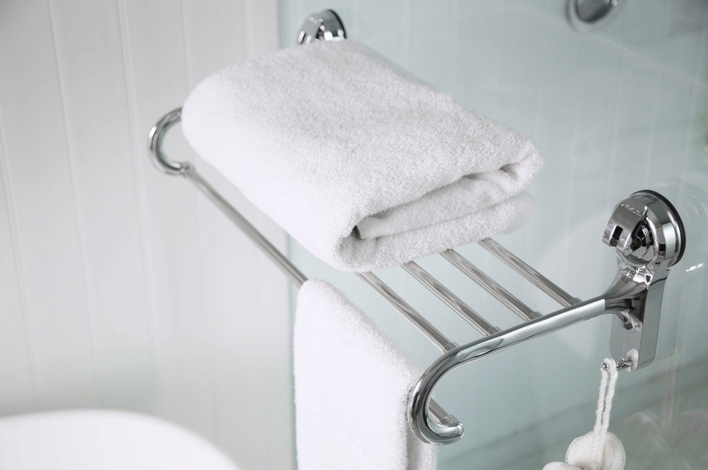 towel rack suction shower shelf tub