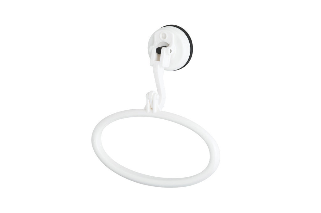 towel ring white suction hanging shower