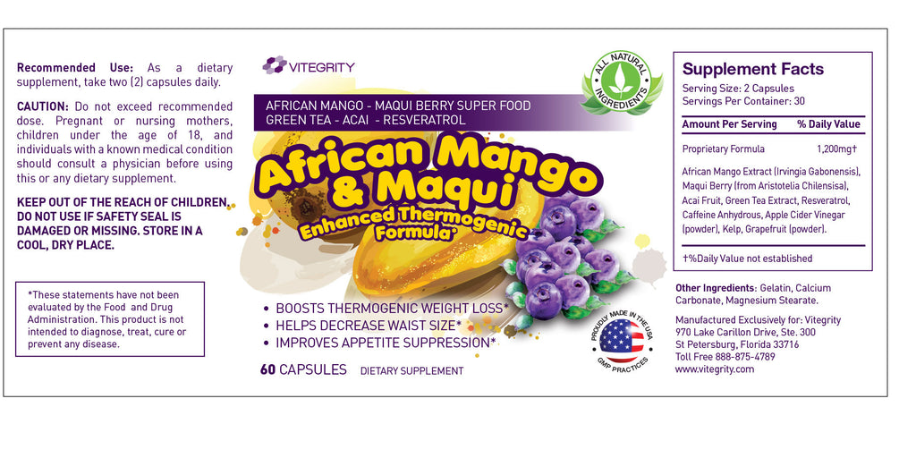 African Mango & Maqui - Suppress Appetite & Cravings
