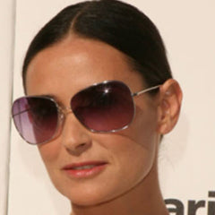 demi moore round face rectangular sunglasses