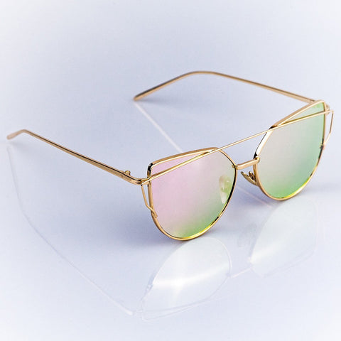 womens gold sunglasses