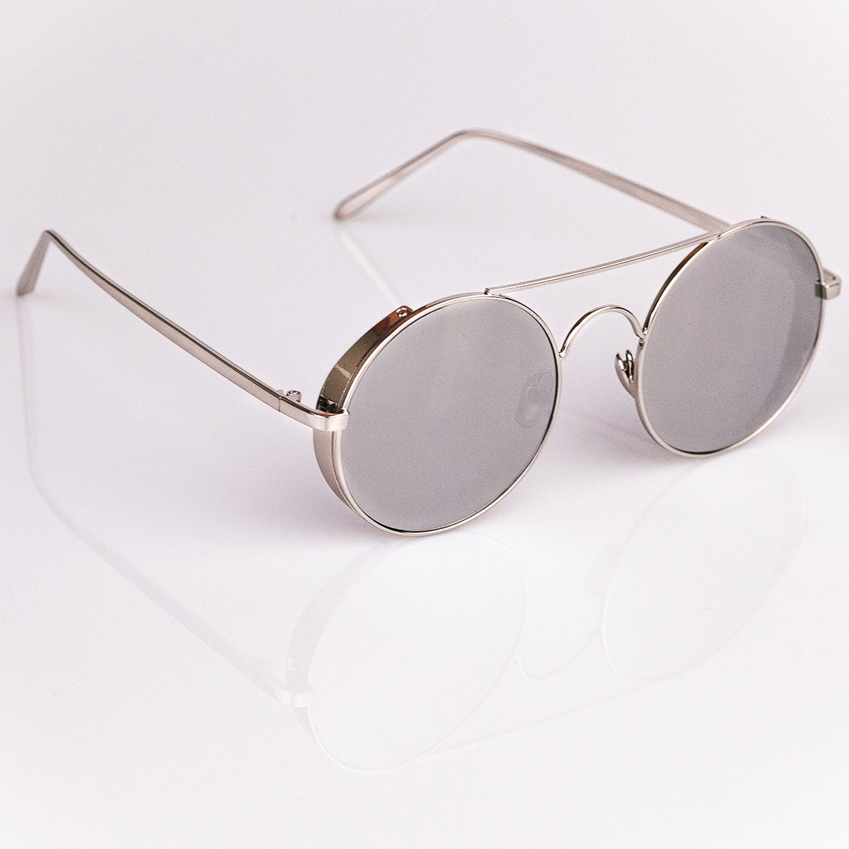 50a9379809363 Steampunk Sunglasses - Silver Frame - Silver Lens - Hipster Sunglasses ...