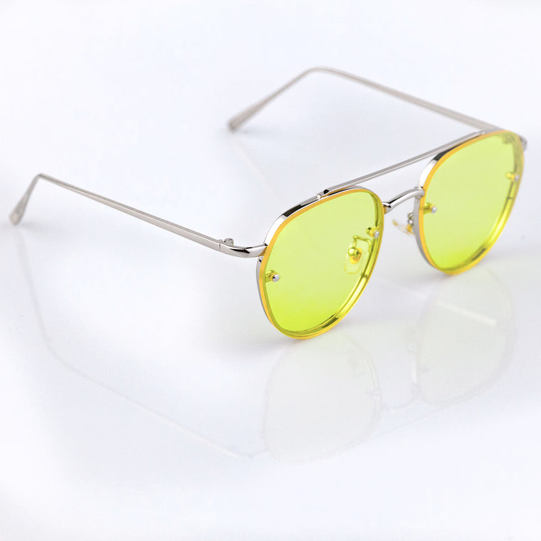 03d36814017 Hipster-Sunnies-El-Capitano-Sunglasses-Silver-Yellow-Lens