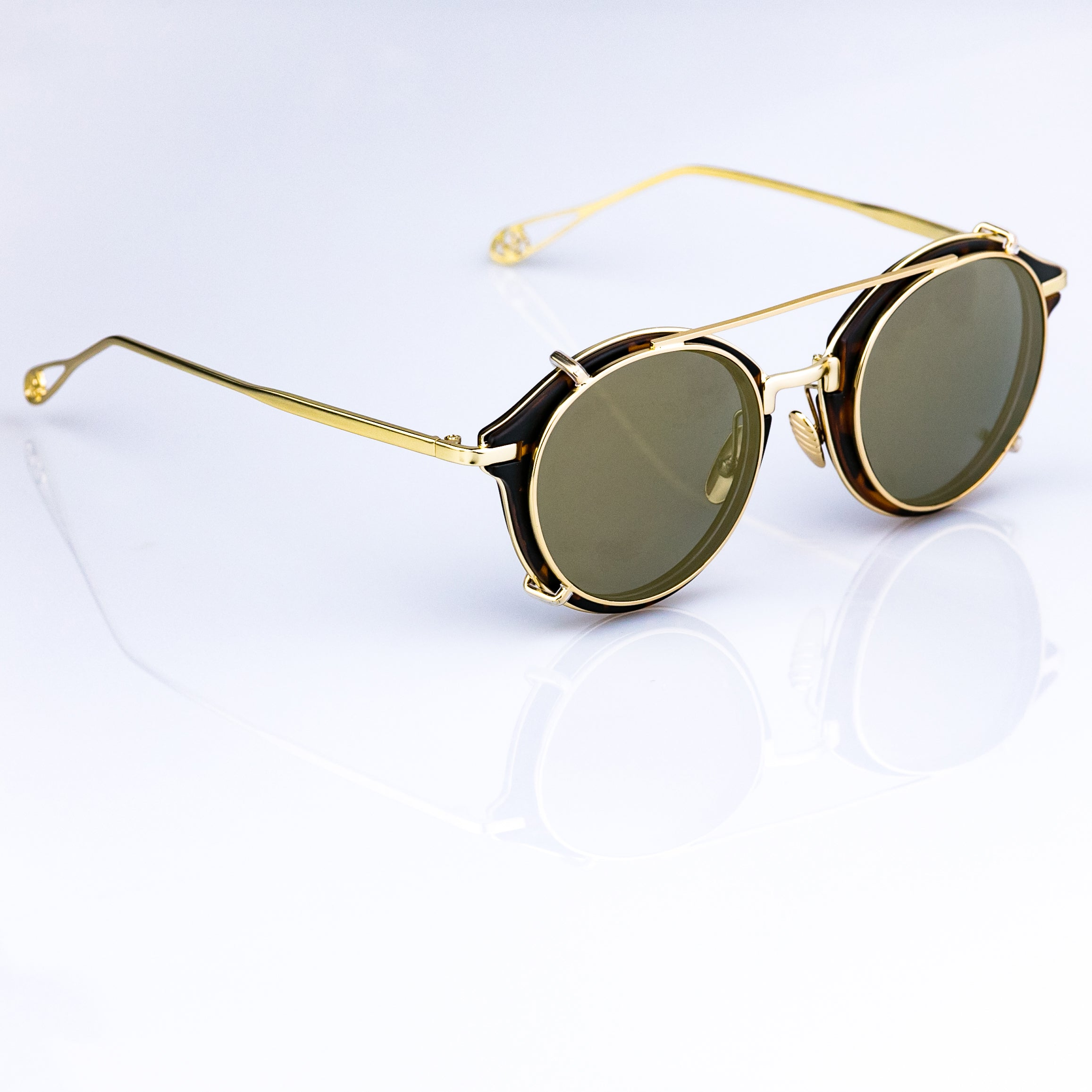 4eaa35a0af608 Hipster Sunglasses - Retro Nuovo - Gold Frame - Tan Lens