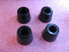 Equipment Foot Set of 4 Black Plastic 20mm Dia x 15mm Tall