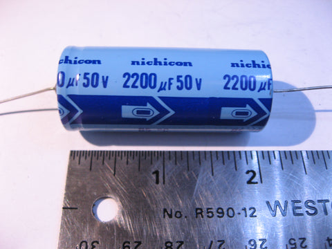 Capacitor Electrolytic 2200uF 50VDC Axial Nichicon