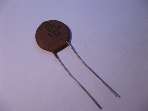 Capacitor Ceramic Disc .01uF 20% 1400V Radial Z5Z