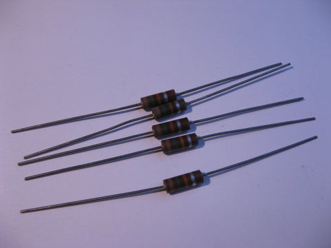 Resistor Carbon Composition 15000 Ohms 10% 1/2 Watt 5-Pack