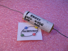 Capacitor Ceramic Case Epoxy Sealed .05uF 600VDC Axial EMBEE