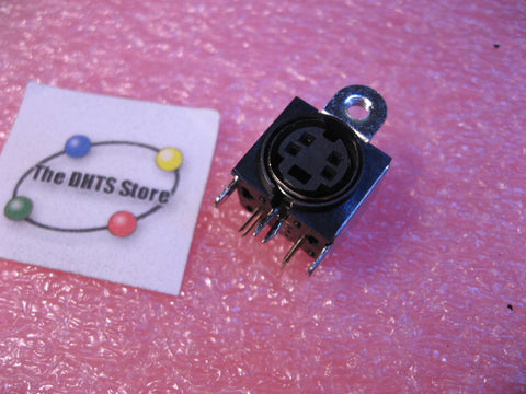 Connector Mini-DIN Hosiden TCS7927-24-401 4 Pins PCB Lock Mount