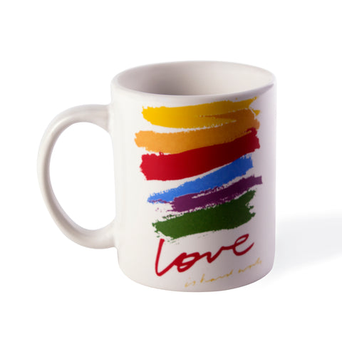 love is hard work - coffee mug