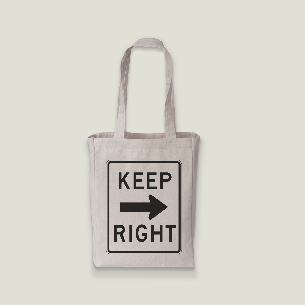 left/right tote