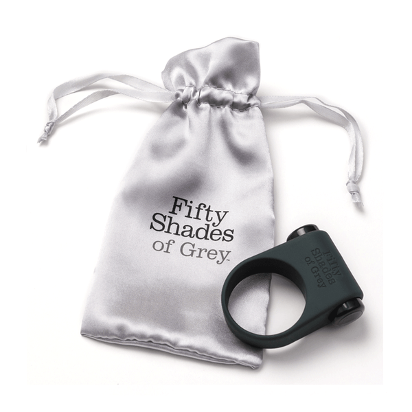 Fifty Shades of Grey Feel It Baby Vibrating Cock Ring - Peachy Keen  - 2