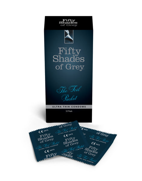 Fifty Shades of Grey 'The Foil Packet' 12 Pack of Condoms - Peachy Keen  - 1