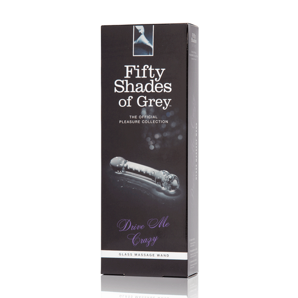 Fifty Shades of Grey Drive Me Crazy Glass Massage Wand - Peachy Keen  - 6