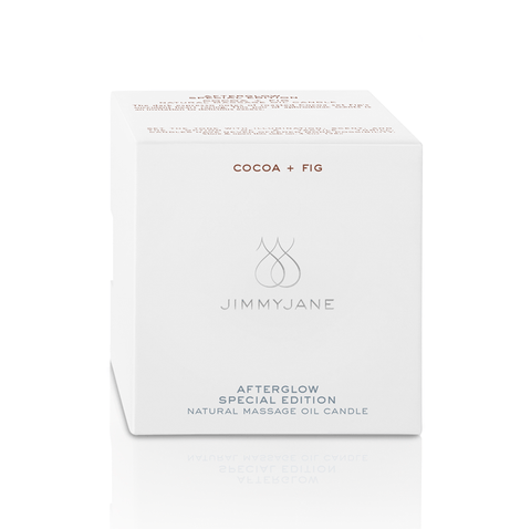 Jimmyjane Afterglow Cocoa and Fig Massage Candle - Peachy Keen  - 1