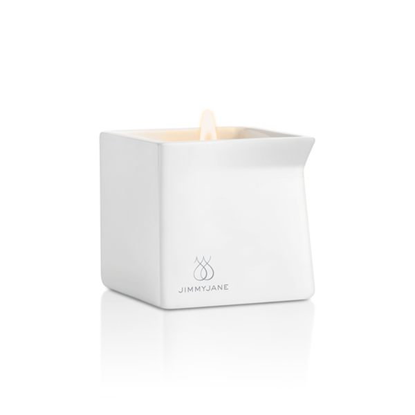 Jimmyjane Afterglow Dark Vanilla Massage Candle - Peachy Keen  - 3