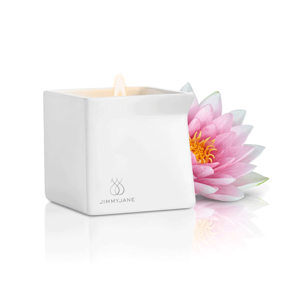 Jimmyjane Afterglow Pink Lotus Massage Candle - Peachy Keen  - 2