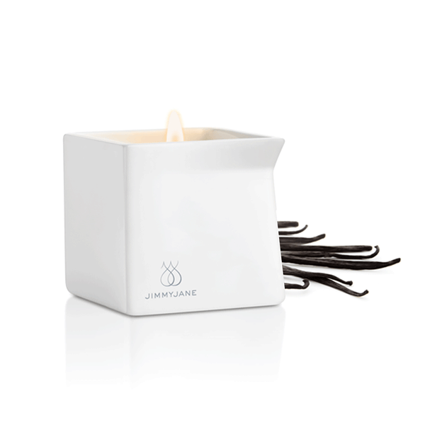 Jimmyjane Afterglow Cocoa and Fig Massage Candle - Peachy Keen  - 2