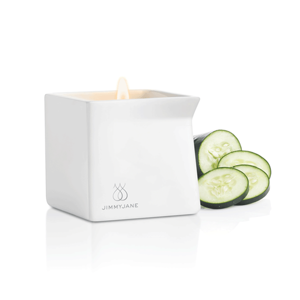 Jimmyjane Afterglow Cucumber Water Massage Candle - Peachy Keen  - 2