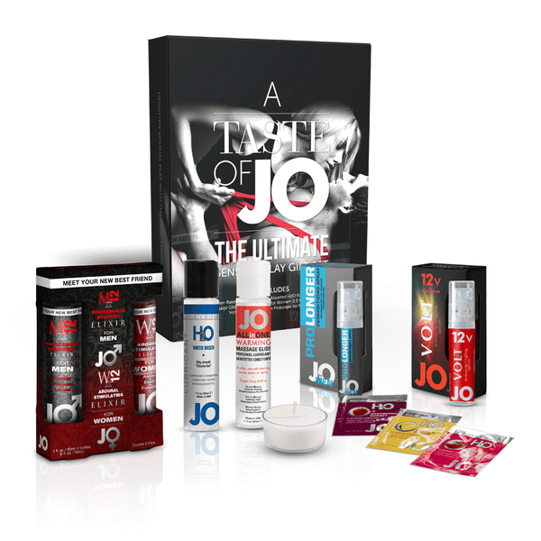 System JO A Taste of JO Massage Oil and Lubricant Gift Set - Peachy Keen  - 1
